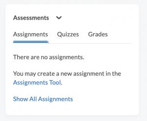 Assessments Widget