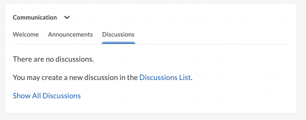 Discussions Instructor