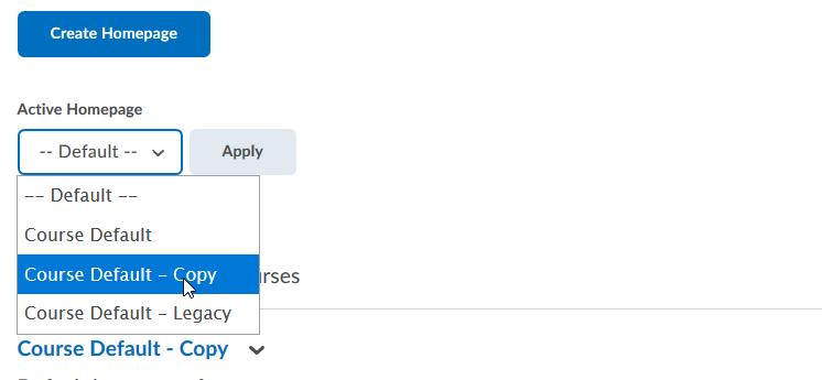 Selecting Course Default – Copy