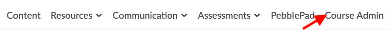 Selecting Course Admin