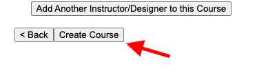 Clicking Create Course