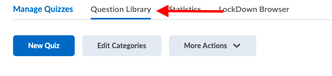 Selecting Question Library