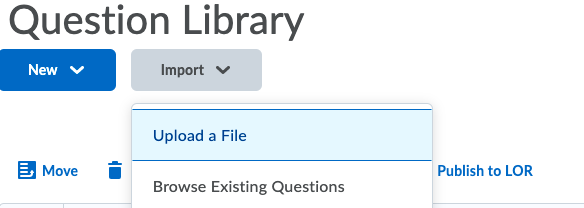 Selecting Upload a File