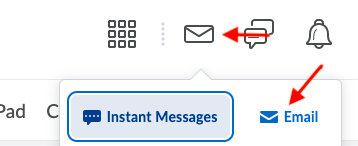 clicking email from navbar